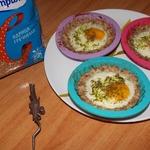 Гречневые тарталетки, запечённые с яйцом