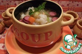 Рецепт: Суп с горохом и цветной капустой