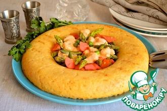 Рецепт: Рисовое кольцо с овощным рагу