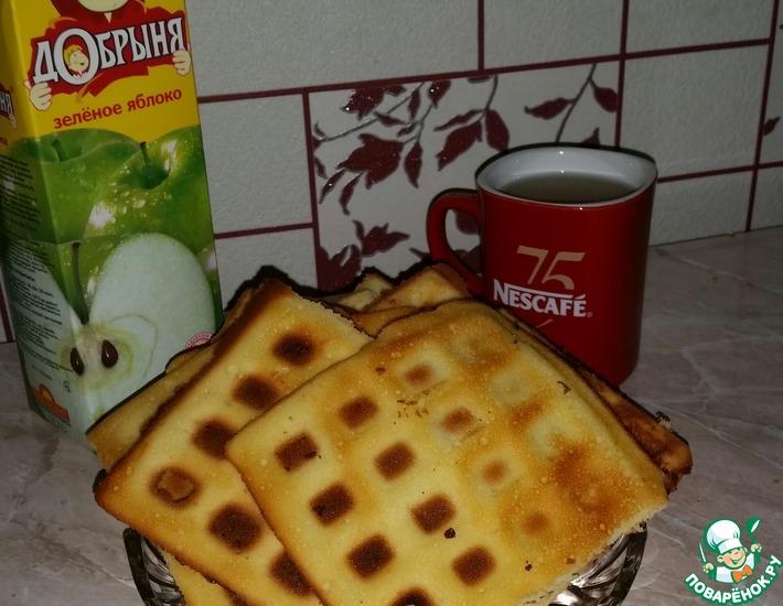 Рецепт: Хрустящие вафли