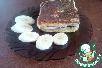 Рецепт: Сэндвич с шоколадной пастой и бананом