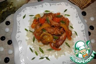 Рецепт: Куриное мясо с болгарским перцем