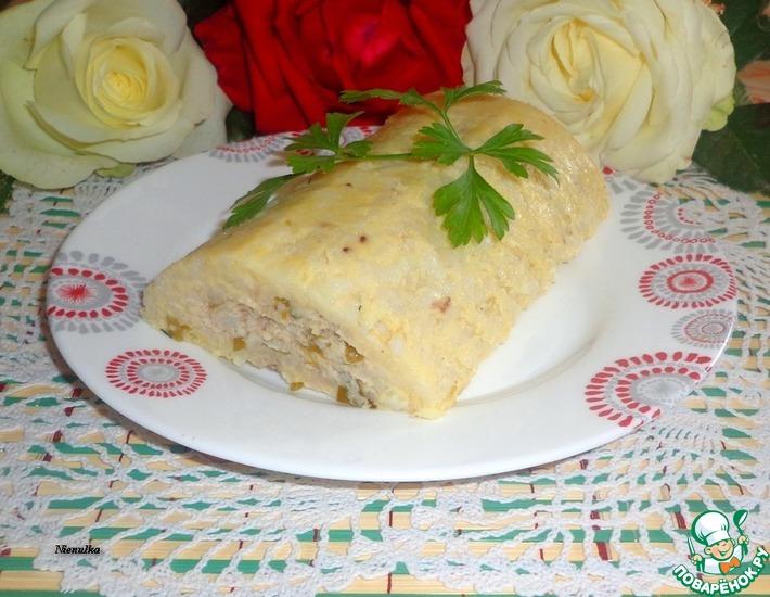 Рецепт: Рыбно-нутовый террин