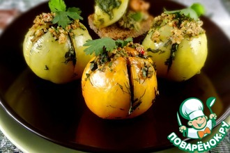 Рецепт: Запеченные зеленые помидоры