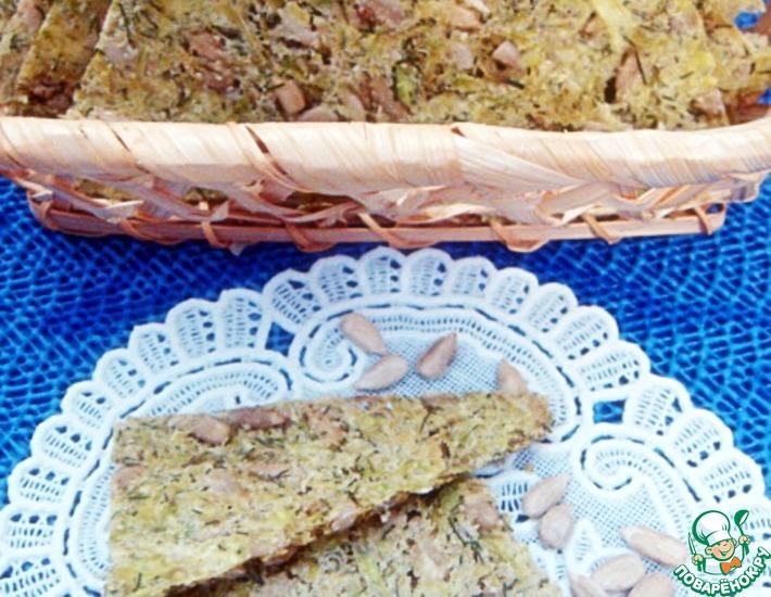 Рецепт: Хлебцы из кабачков и семян подсолнуха