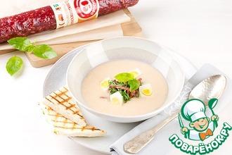 Рецепт: Крем-суп из белой фасоли по-Черкизовски