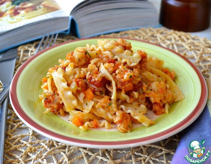 Рецепт: Паста с рыбным соусом