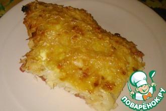Рецепт: Куриное филе, запеченное под тертым картофелем