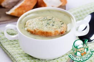 Рецепт: Суп-пюре из кабачков с базиликом