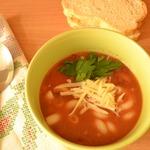 Суп с фасолью и макаронами