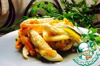 Рецепт: Рагу овощное с курицей Медитерранео