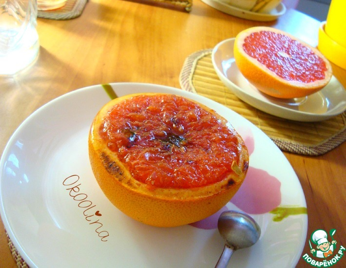 Рецепт: Запечённый грейпфрут