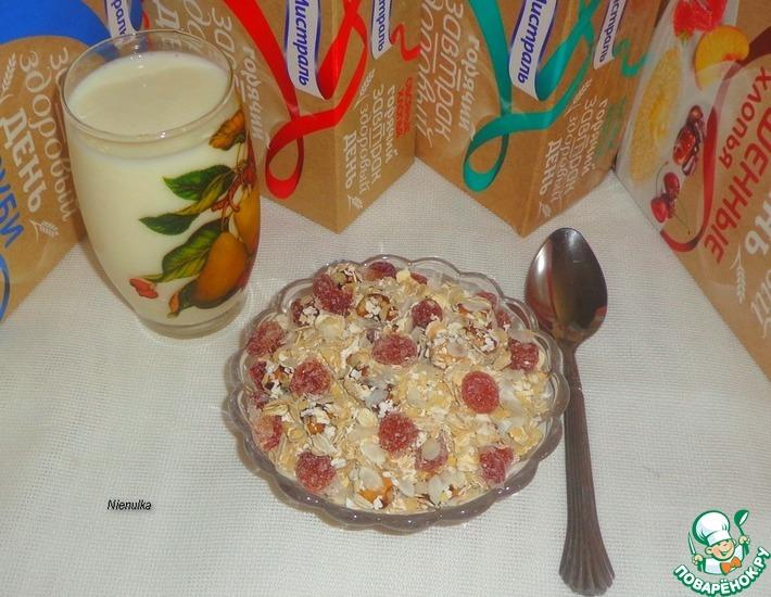 Рецепт: Мюсли с карамелизованными орехами