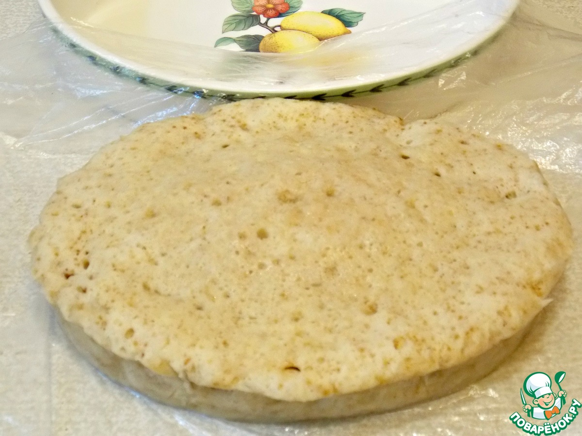 Яблочно-грушевый пирог из микроволновки