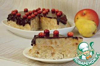 Рецепт: Яблочно-грушевый пирог из микроволновки