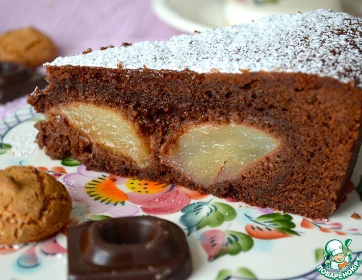 Рецепт: Шоколадно-грушевый пирог