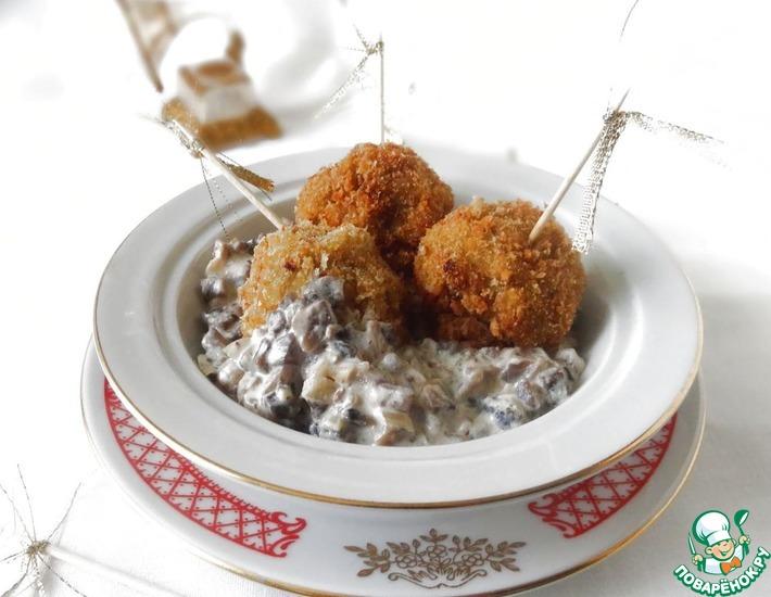 Рецепт: Овощные крокеты с грибным соусом