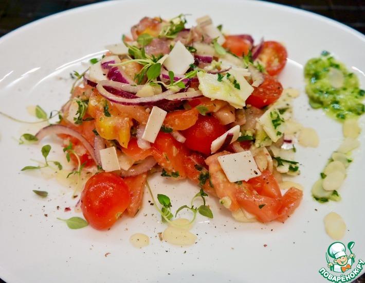 Рецепт: Испанский салат с помидорами