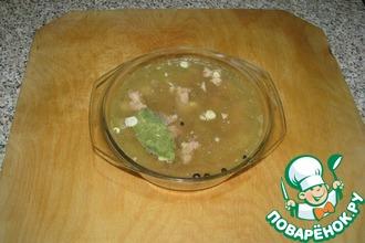 Рецепт: Холодец из мясных консервов