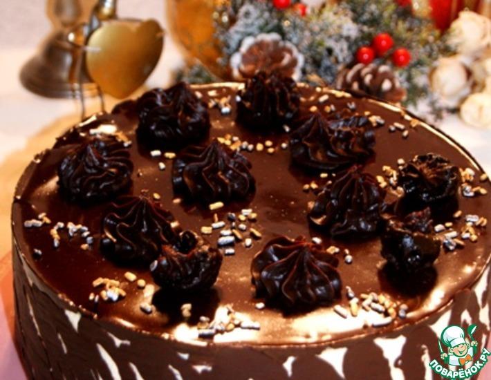 Рецепт: Торт Чернослив в шоколаде