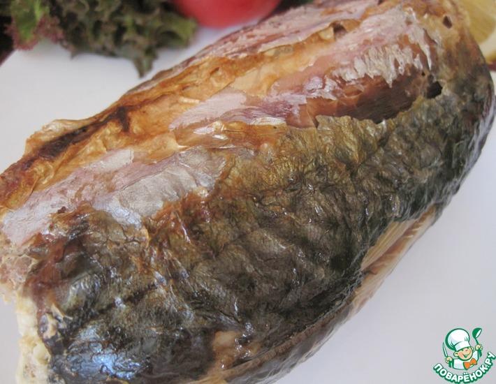 Рецепт: Рулет рыбный с фаршированным кабачком