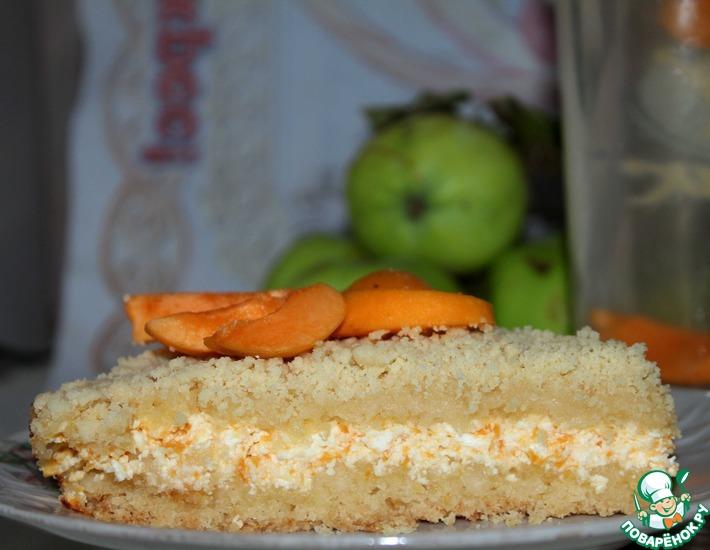 Рецепт: Творожно-абрикосовый пирог
