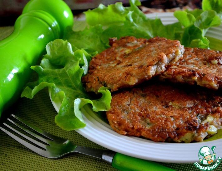 Рецепт: Ржаные оладьи с кабачками и мультизлаками
