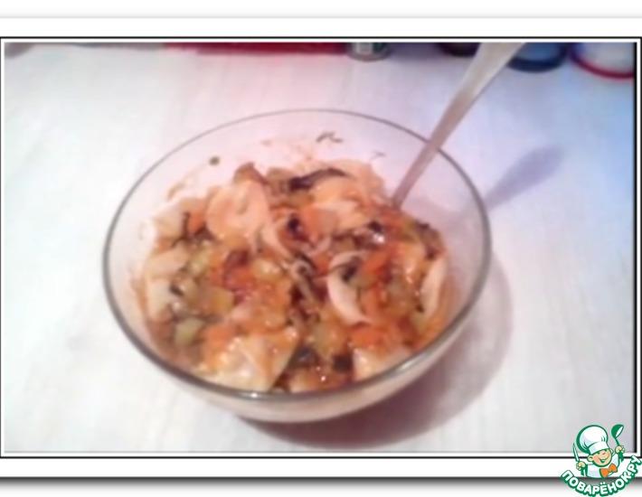 Рецепт: Галушки с овощами