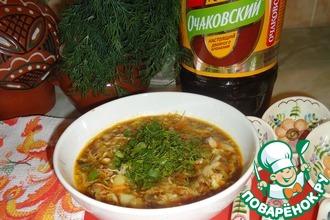 Рецепт: Овощи с квасом по-монастырски