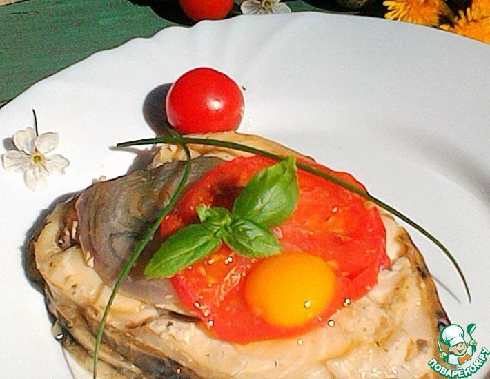 Рецепт: Стейки зубатки на гриле в сметане