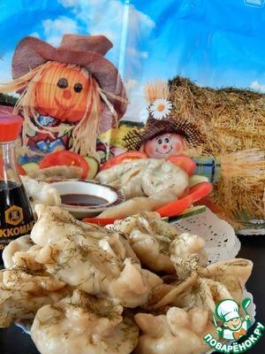 Паровые картофельно-грибные вареники
