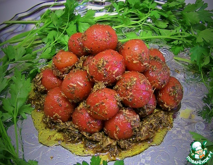 Рецепт: Маринованные помидоры черри за 10 минут