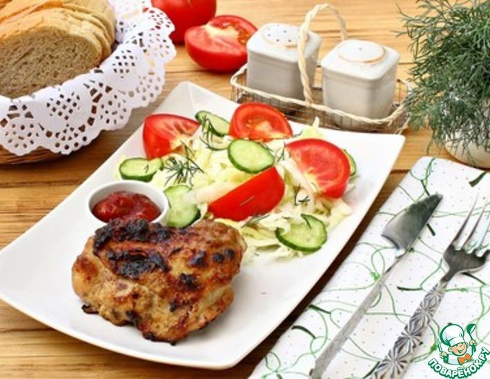 Рецепт: Куриные бедра в сметанном маринаде