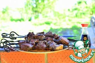 Рецепт: Шашлык из говядины в тандыре