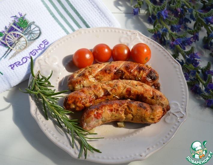 Рецепт: Куриные колбаски в стиле Прованс