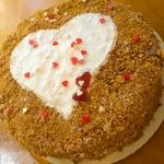 Торт Рыжее сердце