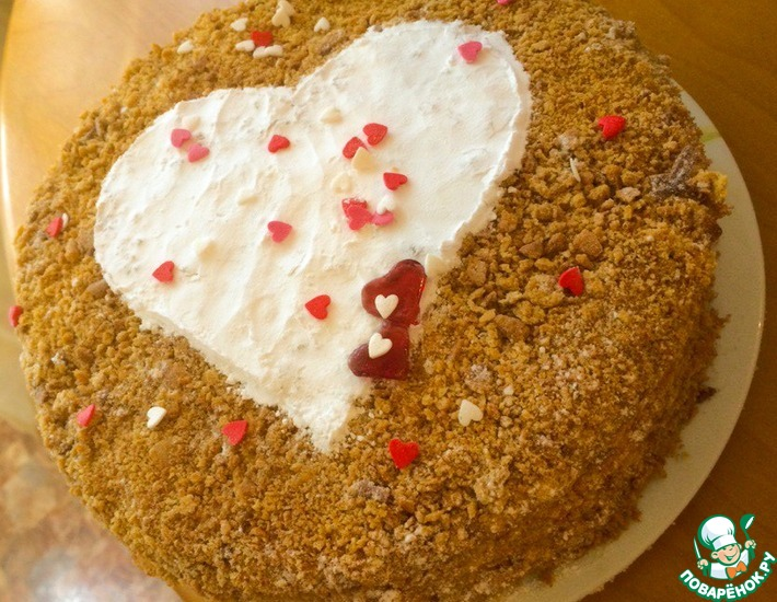 Рецепт: Торт Рыжее сердце