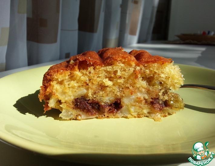 Рецепт: Грушевый пирог с шоколадом