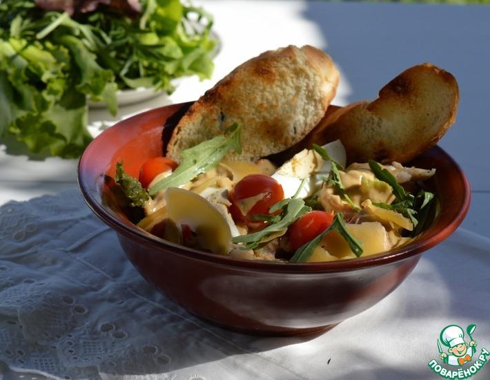 Рецепт: Жареный салат Цезарь