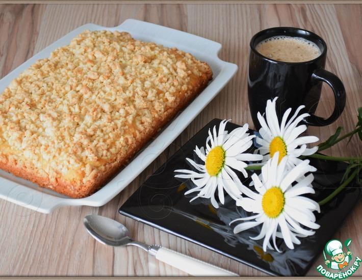 Рецепт: Простой пирог с кокосовым штрейзелем
