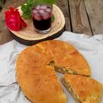 Пирог с мясом и кабачком