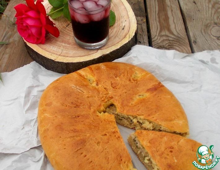 Рецепт: Пирог с мясом и кабачком