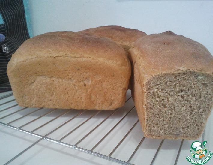Рецепт: Хлеб из пшеничной и цельнозерновой муки