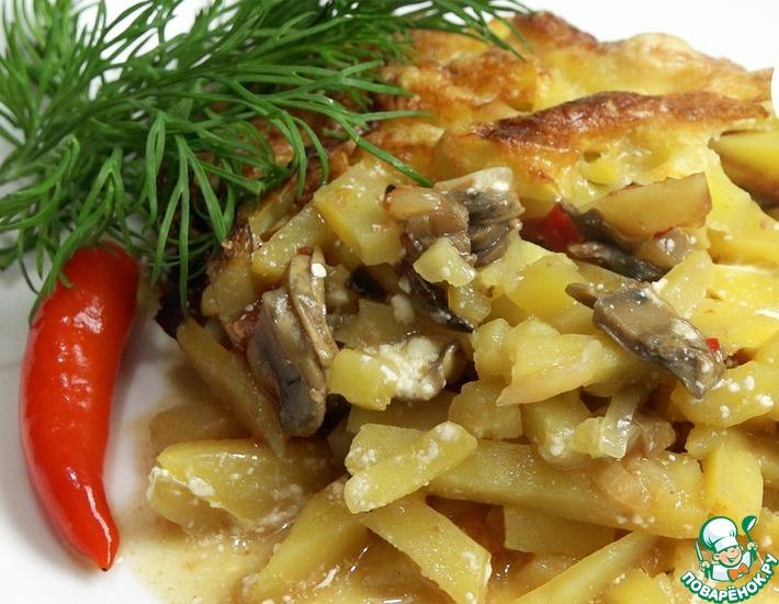 Рецепт: Запеченный картофель Гости на пороге