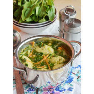 Суп с первой зеленью и клёцками