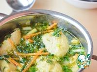Суп с первой зеленью и клёцками ингредиенты
