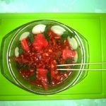 Горячий салат из морского коктейля в микроволновке