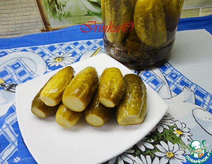 Рецепт: Маринованные огурцы с лимонной кислотой
