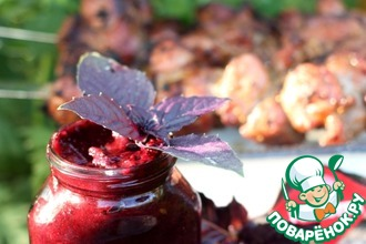 Рецепт: Черносмородиновый соус к шашлыку из мяса