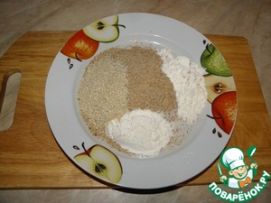 For breading: Mix the flour with the breadcrumbs and sesame seeds